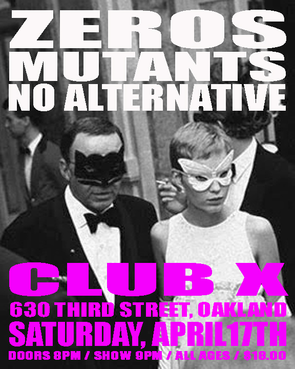 Mutants Zeros No Alternative Club X