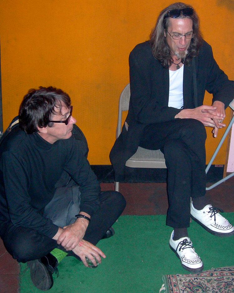 east bay ray of Dead Kennedys and JOhnny Jennocide of No Alternative at Lennon Studios